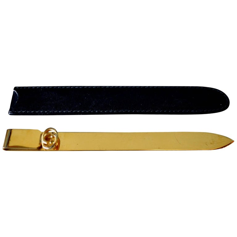 Gucci Brass Letter Opener For Sale