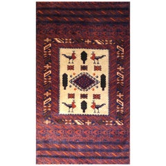 Persian Red Baluch Rug