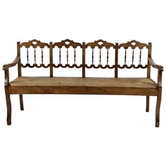 Anglo Indian Style Hall Bench