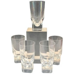 "Five Baccarat ""Pluton"" Pattern High Ball Glasses"