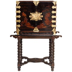 Cabinet-Bar in Black Lacquer from Japan, 19th Century