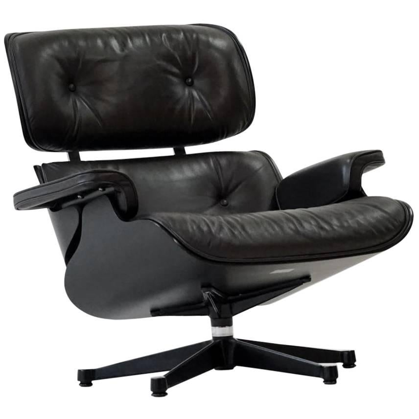 Vitra .06 Lounge Chair In Basic Black With Stainless Steel Legs For Sale At  1stdibs