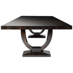 Grace Dining Table, in High Gloss Macassar Ebony