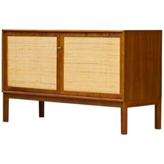 Swedish Teak and Rattan Sideboard by Alf Svensson for Bjästa Möbelfabrik, 1960s