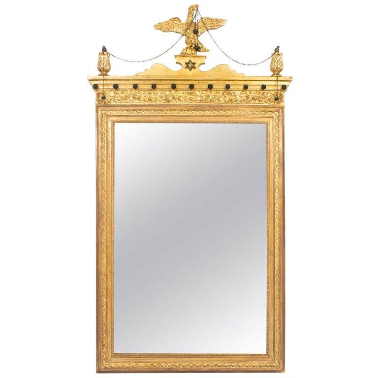 19th Century George II Style Parcel-Gilt Wall Mirror