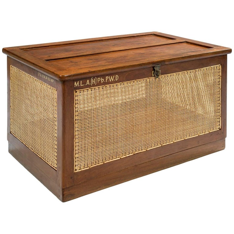 Pierre Jeanneret Dirty Linen Basket, Chandigarh, 1955 For Sale