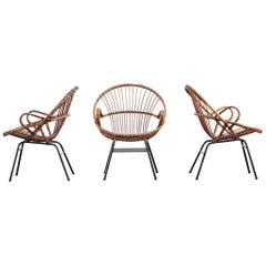 Pair of Rattan Chairs, 1960s
