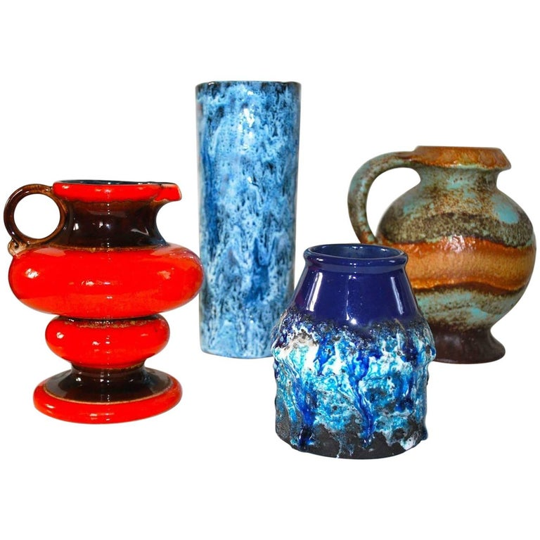 West German Pottery Vases Fat Lava Ceramics For Sale At 1stdibs