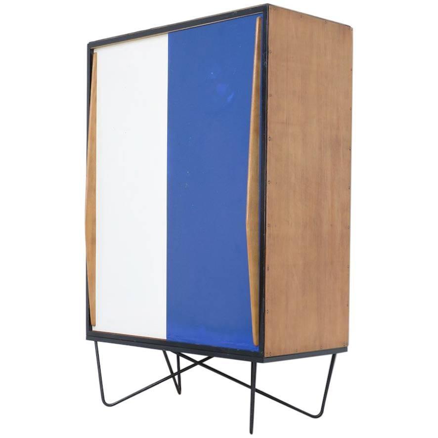 Rare Wardrobe Cabinet By Willy Van Der Meeren For Tubax