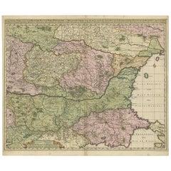 Antique Map of Ukraine, Bulgaria, Romania, Servia & Surroundings by N. Visscher