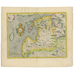 Antique Map of Present-Day Latvia and Estonia by H. Hondius, 1627