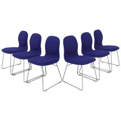 Jasper Morrison High Pad Chairs for Cappellini, Set of Six