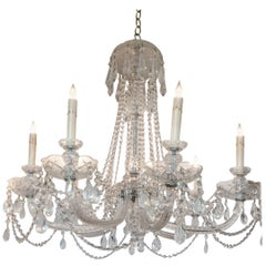 Luminous Monumental Eight-Arm French Crystal Chandelier