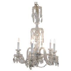 Very Elegant Classic Medium Sized French Crystal Chandelier