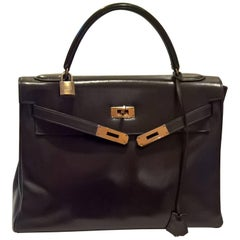 Vintage Hermes Kelly Bag in Brown