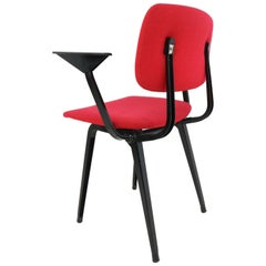 Seven Revolt Chair by Friso Kramer for Ahrend Cirkel Upholstered in Red