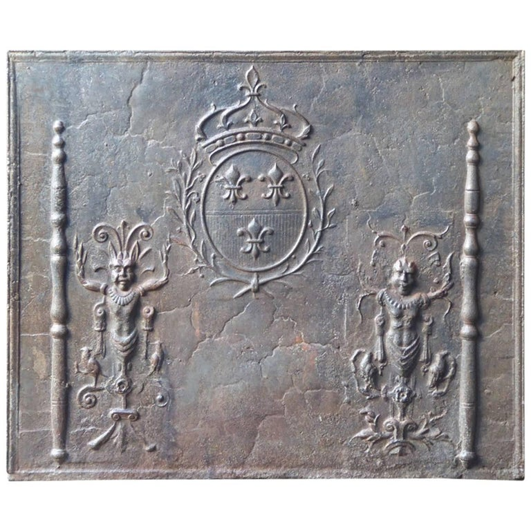 Magnificent French 'Arms of France' Fireback, 17th Century