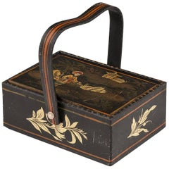 Early 19th Century Regency Period Chinoiserie Sewing Basket