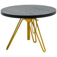 """""""Overdyed"""" Aniline Dyed Ash Veneered Top & Steel Side Table by Moroso for Diesel"""