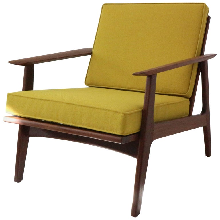 Danish Armchair In Teak And Bamboo At 1stdibs