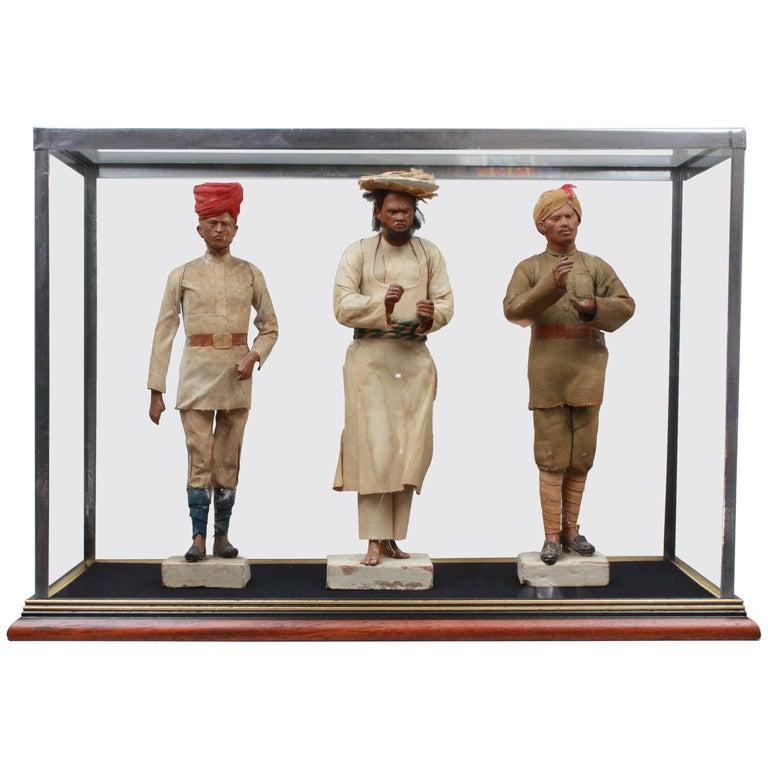 19th Century Indian Clay Figures India, circa 1870 by Jadunath Pal
