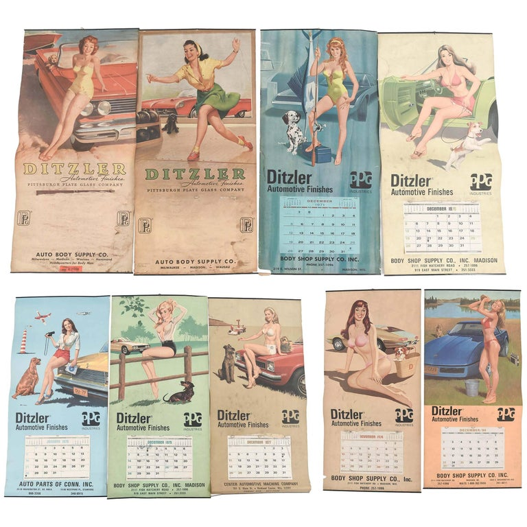 Pin Up Girl Calendars for Ditzler Automotive Industries