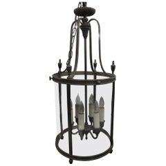 1910 Bronze Six-Light Neoclassical Greek Style Pendant Lantern by EF Caldwell
