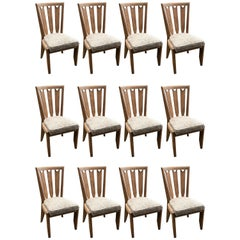Set of 12 Chairs by Guillerme and Chambron, Edition Votre Maison, circa 1960