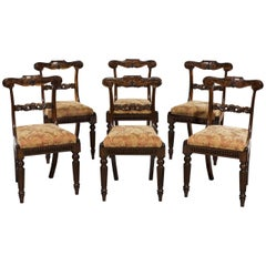 Set of Six George IV Period Carved Gonzalo Alves Dining Chairs