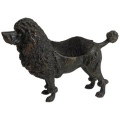 Antique Cold Painted Bronze Pen Nib Wipe, circa 1890, Dog, Poodle