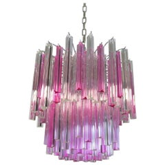 Wonderful Murano Chandelier, 107 Prism, Arianna Model
