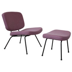 Two Sets of Lows Chairs CM190 with Footstools by Pierre Paulin for Thonet, 1959
