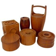 Collection of Danish Dansk Teak Quistgaard Ice Buckets
