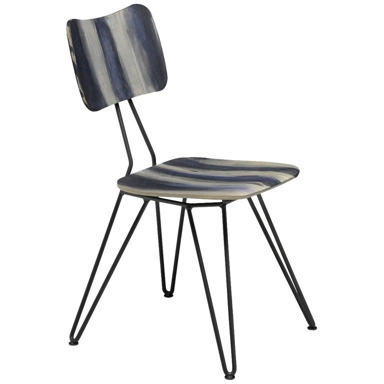 """Overdyed"" Aniline Dyed Ash Plywood Shell and Steel Chair by Moroso for Diesel"
