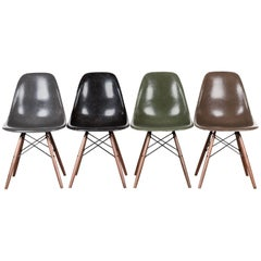 Set of Four Eames DSW Herman Miller, USA Dining Chairs