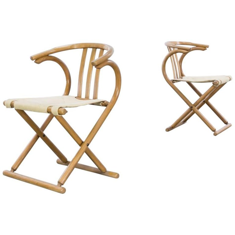 Thonet Bentwood Folding Chair Set or 2 For Sale