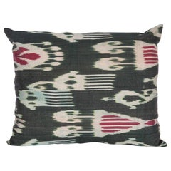 Antique Ikat Pillow Case Fashioned from an Early 20th Century Uzbek Ikat