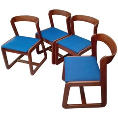 Chairs by Willy Rizzo for Mario Sabot, 1970s, Set of Four