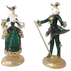 Venitian Dancing Couple in Murano Glass, 1950s