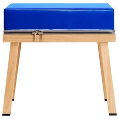 Visser and Meijwaard Truecolors Stool in Blue PVC Cloth with Zipper