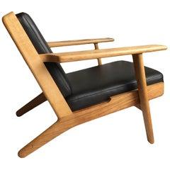 Original Hans Wegner GE290 Lounge Chairs, Refurbished reupholstered