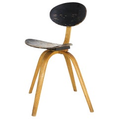 "Hugues Steiner ""Bow-wood"" Chair No.3 for Steiner Meubles, 1950s"