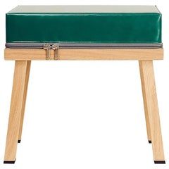 Visser and Meijwaard Truecolors Stool in Green PVC Cloth with Zipper