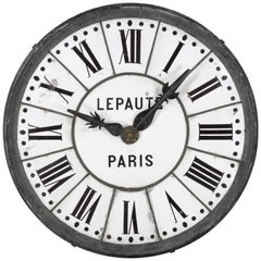"Massive Four Foot Diameter Architectural Clock Face, ""LePaute, Paris"""