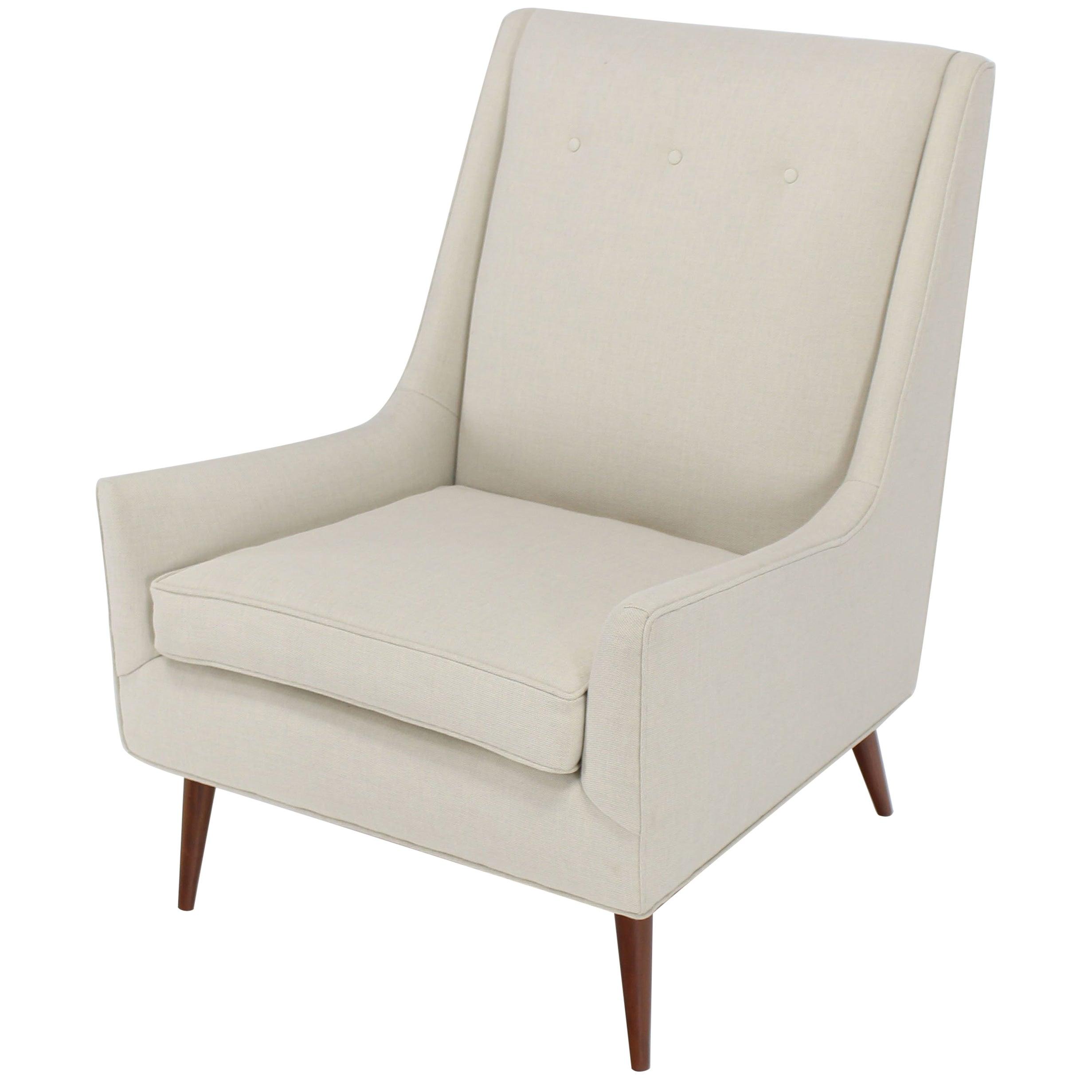 New Upholstery High Dowel Legs McCobb Lounge Chair