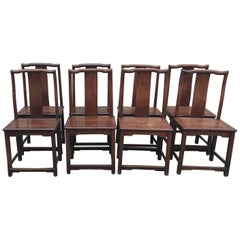 Antique Set of Eight 19th Century Chinese Chairs