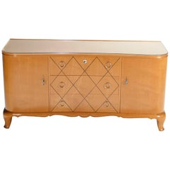 René Prou Sycamore Chest of Drawers, 1940s