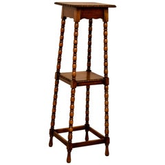 19th Century English Oak Plant Stand