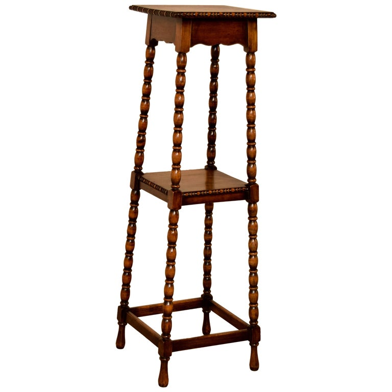 19th Century English Oak Plant Stand For Sale