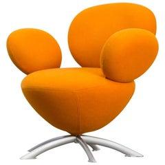 1990s Beautiful Friendly Round Orange Design Balloon Chair